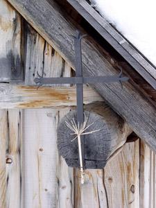 croix sur la poutre