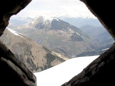 vue de la maurienne par la fenêtre
