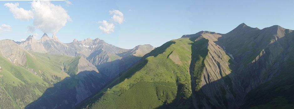 Panorama des Aiguilles à l'Agnelin