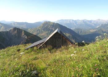 Chanin vers le Mont-Blanc