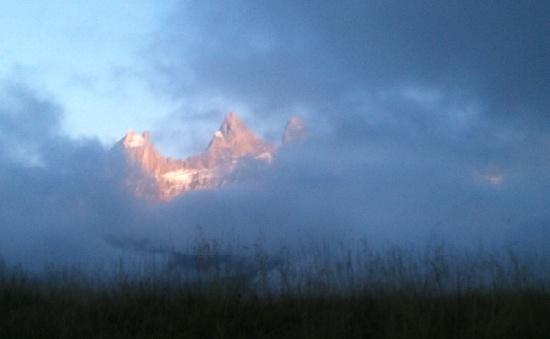 Aiguilles d'Arves et nuages