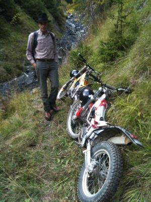 Motos trial en montagne