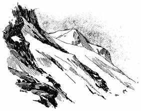 paysage de montagne dessiné par Whymper