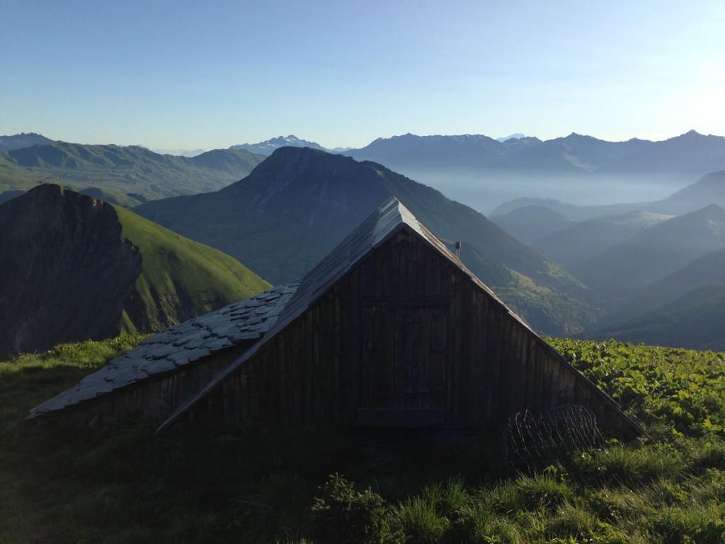 Chalet face au mont Blanc