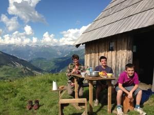 Repas en montagne